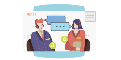 Illustration of Customer Service training program